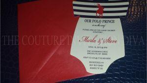Polo themed Baby Shower Invitations Polo Prince Baby Shower Invitation Polo Prince Esie Baby