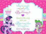 Pony Party Invitation Wording My Little Pony Birthday Invitation Wording Party My