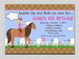 Pony Party Invites Free Printable Birthday Invitations Free Printable Horse Birthday