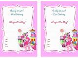 Pony Party Invites Free Printable My Little Pony Birthday Invitations Birthday Printable