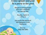 Pool Birthday Party Invitation Wording Girl or Boy Printable Swimming Pool Birthday Party Invitation