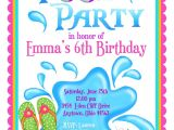 Pool Birthday Party Invitation Wording Kids Pool Party Invite