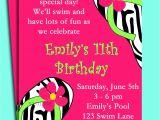 Pool Birthday Party Invitation Wording Pool Party Birthday Invitation Wording
