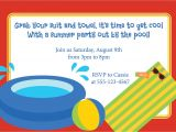 Pool Birthday Party Invitation Wording Pool Party Invitation Birthday Kid S Party Luau