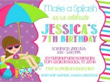 Pool Birthday Party Invitation Wording Pool Party Invitation Wording Template