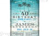 Pool Party Invitation Ideas for Adults Adult Birthday Pool Party Invitation Any Age Vintage