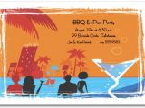 Pool Party Invitation Ideas for Adults Night Time Pool Invitation