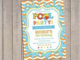 Pool Party Invitation Ideas Homemade Invitations Kids Kid and Birthdays On Pinterest