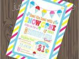 Pool Party Invitation Ideas Homemade Snow Cone Invitation Diy Pool Party Invite Summer