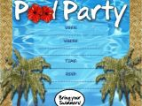 Pool Party Invitations for Kids Free Kids Party Invitations Pool Party Invitation