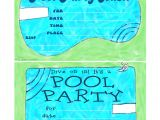 Pool Party Invitations Free Printable Bnute Productions May 2013