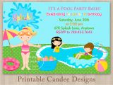 Pool Party Invitations Free Printable Free Printable Birthday Pool Party Invitations Templates