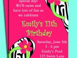 Pool Party Invite Wording Pool Party Birthday Invitation Wording Best Party Ideas
