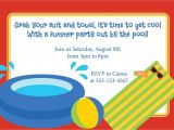 Pool Party Invite Wording Pool Party Invitation Birthday Kid 39 S Party Luau