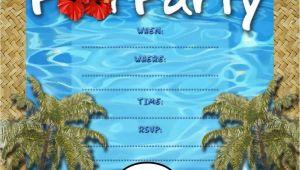 Pool Party Invites Free Free Kids Party Invitations Pool Party Invitation