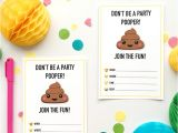 Poop Emoji Birthday Party Invitations Emoji Party Ideas and Colorful Printables
