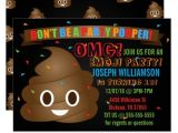 Poop Emoji Birthday Party Invitations Funny Poop Emoji Birthday Party Invitation