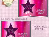 Pop Star Party Invitations Pop Star Party Invitation Diy Printable Party by