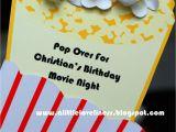 Popcorn Birthday Party Invitations A Little Loveliness Popcorn Movie Party Invitation Tutorial