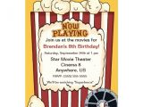 Popcorn Birthday Party Invitations Popcorn Invitation Template Just B Cause