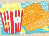 Popcorn Birthday Party Invitations Sweet Wishes Popcorn Movie Sleepover Birthday Party