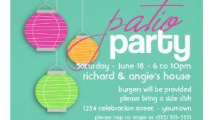 """Porch Party Invitation Summer Patio Party Invitations 5"""" X 7"""" Invitation Card"""