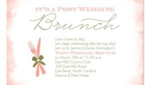 Post Wedding Breakfast Invitation Wording Post Wedding Brunch Party Invitations by Invitation