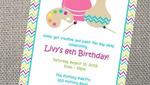 Pottery Painting Party Invitations Pottery Invitation Custom Printable Pottery Party