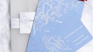 Powder Blue Wedding Invitations Vintage Powder Blue Pocket Wedding Invitation Cards