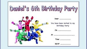 Power Ranger Birthday Invitations Free Power Rangers Party Invitations Cimvitation