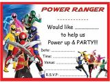 Power Rangers Birthday Invitation Template Power Rangers Birthday Party Invites Invitations X 10 Pack