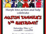 Power Rangers Birthday Invitation Template Power Rangers Invitations 2 Power Ranger Party Power