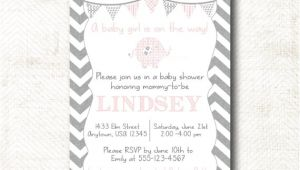 Pre Printed Baby Shower Invitations Baby Shower Invitation with Matching Pre Printed by Mbkprints