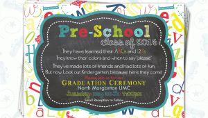 Pre Printed Graduation Party Invitations Pre School Graduation Invitation Pre K Class Graduation