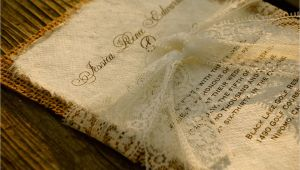 Premade Wedding Invitations Pre Made Lace and Burlap Wedding Invitation by