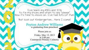 Preschool Graduation Invitation Graduation Invitations Easyday