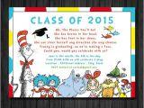 Preschool Graduation Invitations Free Printable Dr Suess Graduation Preschool Kindergarten Graduation