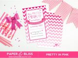 Pretty In Pink Birthday Party Invitations Items Similar to Pretty In Pink Birthday Invitation On Etsy