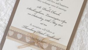 Primitive Wedding Invitations Rustic Country Chic Wedding Invitations X 5 Personalised