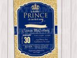 Prince Baby Shower Invites Prince Baby Shower Invitation Royal Blue Gold Baby Shower
