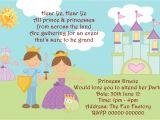 Princess and Prince Party Invitations Prince theme Birthday Invitation