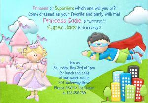 Princess and Superhero Party Invitation Template 10 Princess Party Invitations Designs Templates Free