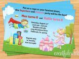 Princess and Superhero Party Invitation Template 12 Princess Party Invitations Jpg Psd Ai Word Free