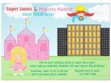 Princess and Superhero Party Invitation Template 30 Superhero Birthday Invitation Templates Psd Ai