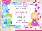 Princess and Superhero Party Invitation Template Superhero and Princess Invitation Super Heroes Printable