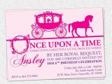 Princess Bday Party Invitations Princess Birthday Party Invitation Printable Girl Horse