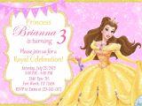 Princess Belle Party Invitations Princess Belle Invitation Princess Belle Birthday Princess