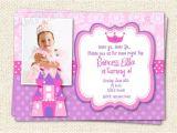 Princess First Birthday Invitation Wording Princess Birthday Invitations