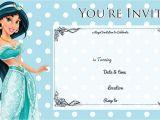 Princess Jasmine Birthday Party Invitations Free Printable Princess Jasmine Disney Birthday Invitation