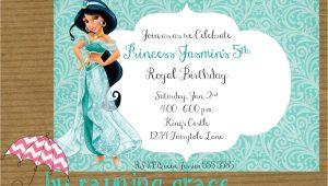 Princess Jasmine Birthday Party Invitations Kitchen & Dining